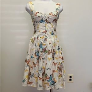 Nanette Lepore-Butterfly fit and flare dress